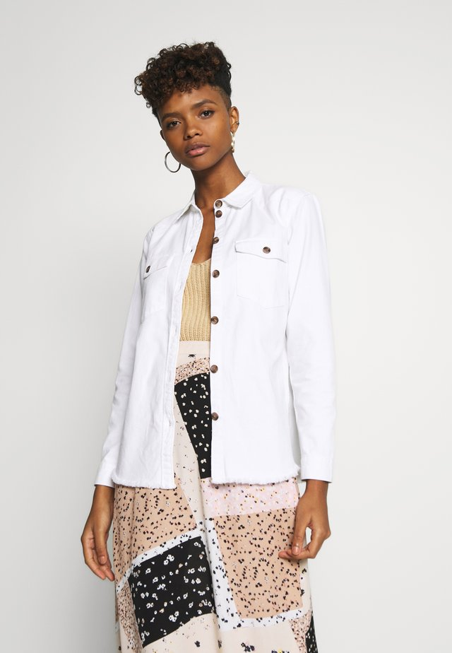JDYRUNE - Button-down blouse - white