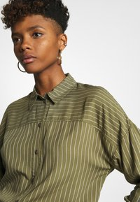 JDY - Button-down blouse - martini olive - 4