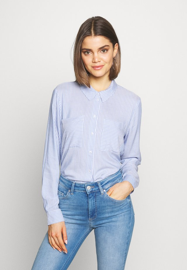 JDYTOM SHIRT - Button-down blouse - chambray blue/bright white