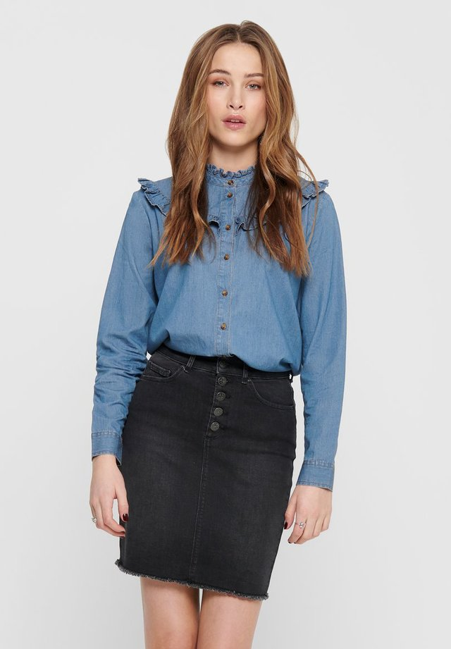RÜSCHEN - Button-down blouse - medium blue denim