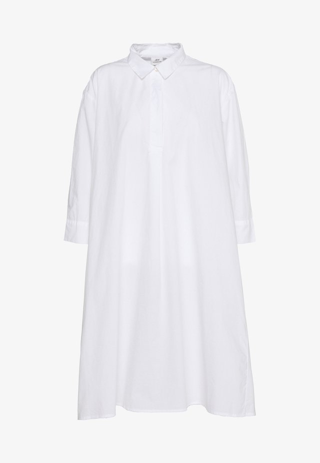 JDYSIF LONG SHIRT DRESS - Skjortekjole - bright white