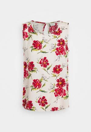 JDYSTARR LIFE NECK - Blouse - shell/barbados cherry