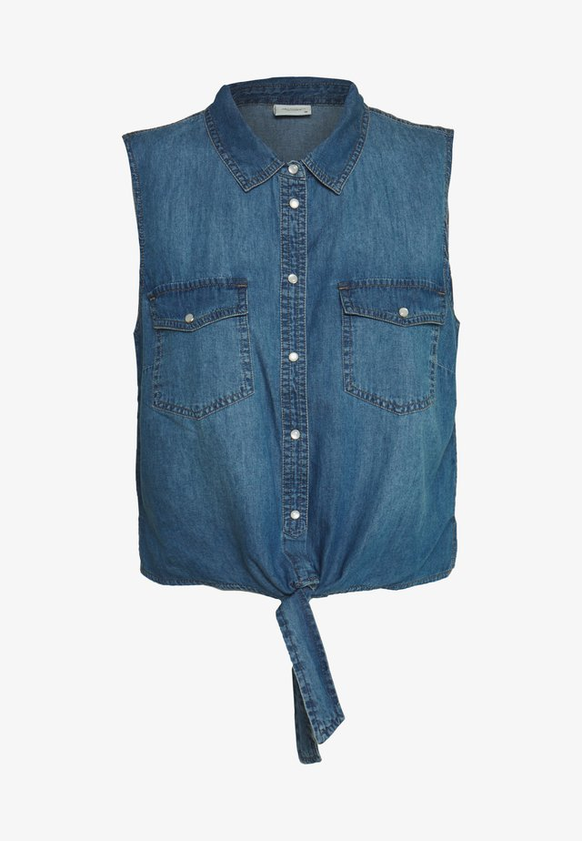 JDYSAINT LIFE - Button-down blouse - medium blue denim