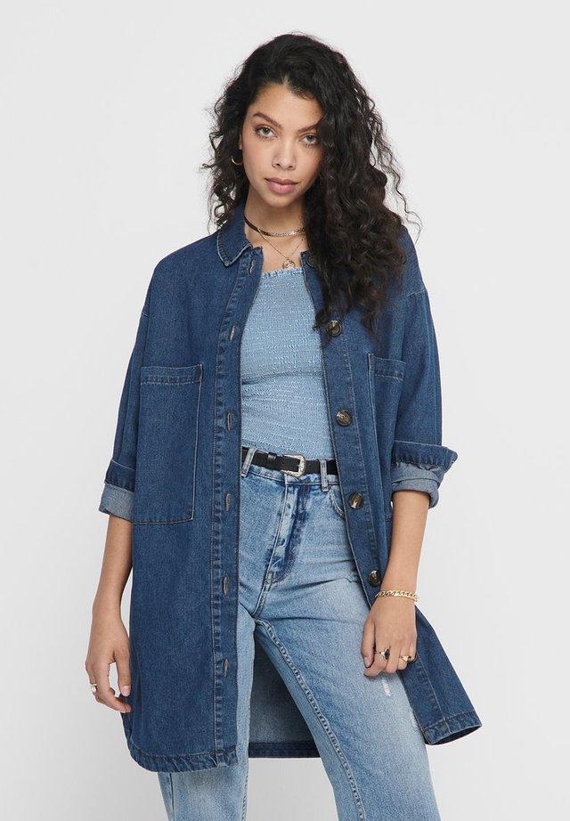 Button-down blouse - medium blue denim