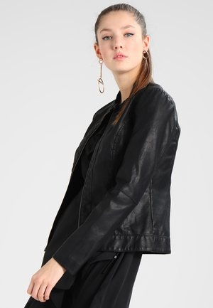 JDYDALLAS JACKET - Faux leather jacket - black