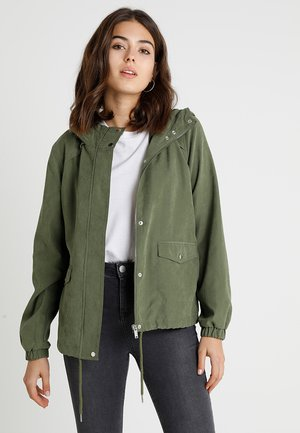 JDYHAZEL SHINE JACKET - Tunn jacka - winter moss