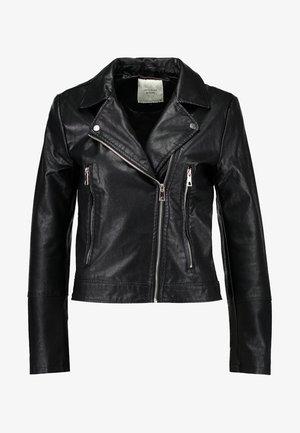 YONG JACQUELINE - Faux leather jacket - black