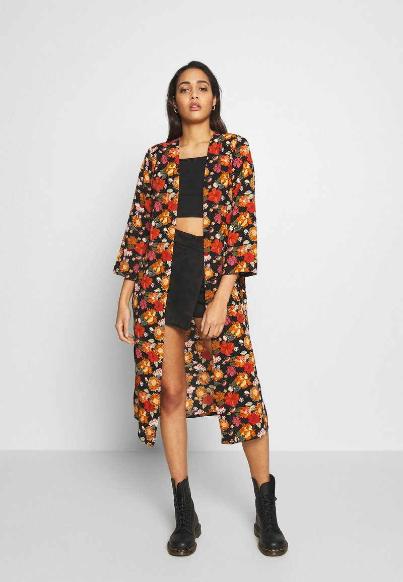 JDY - JOSEPHINE LONG KIMONO - Lehká bunda - night sky/multicolor