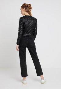 JDY - JDYFIA QUILT JACKET - Faux leather jacket - black - 2
