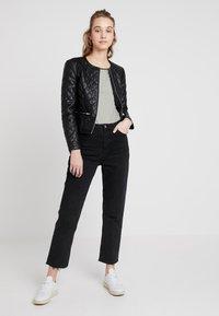 JDY - JDYFIA QUILT JACKET - Faux leather jacket - black - 1