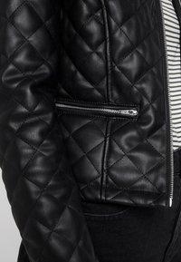 JDY - JDYFIA QUILT JACKET - Faux leather jacket - black - 4