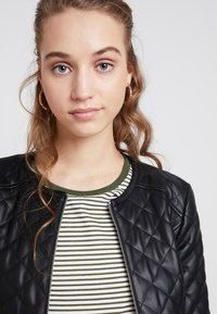 JDY - JDYFIA QUILT JACKET - Faux leather jacket - black - 3