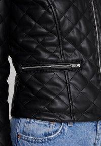 JDY - JDYFIA QUILT JACKET - Faux leather jacket - black - 6