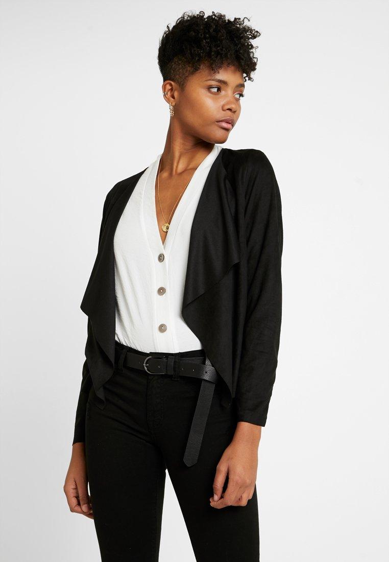 JDY - Faux leather jacket - black