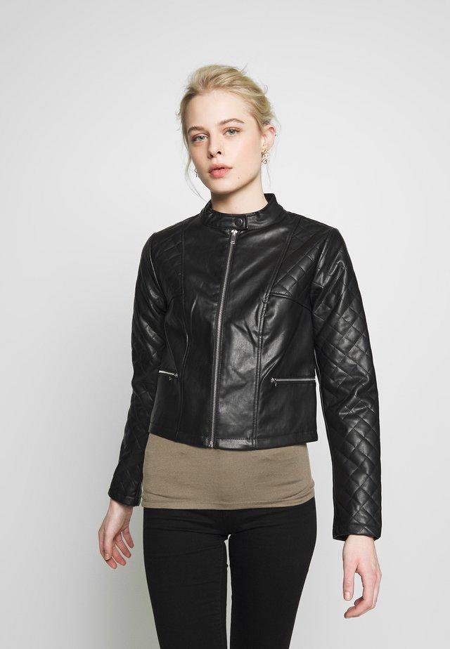 JDYKIA  - Faux leather jacket - black