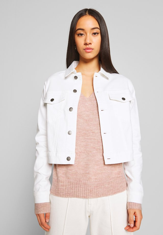 JDYNEW FIVE SHORT JACKET - Farkkutakki - white