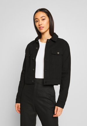 JDYNEW FIVE SHORT JACKET - Spijkerjas - black