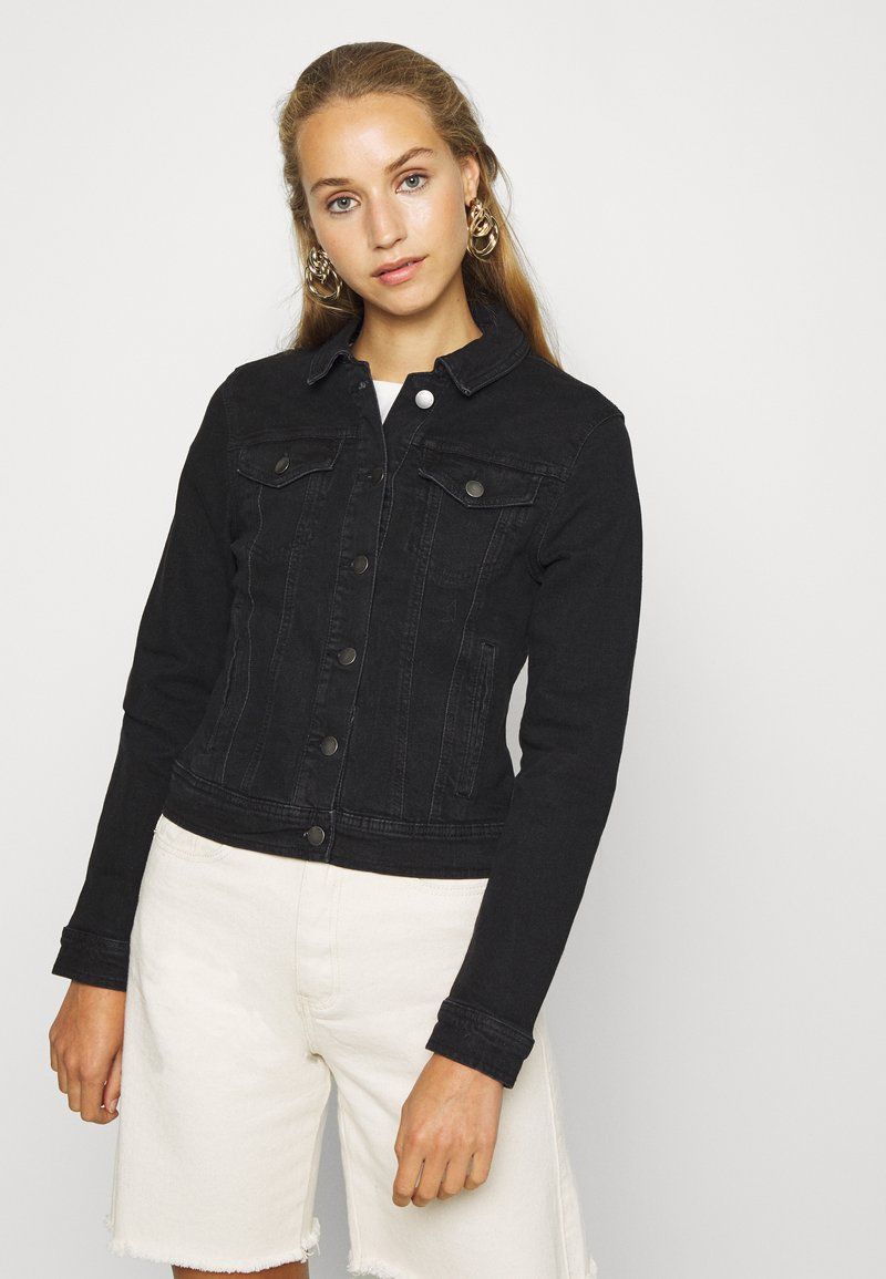 JDY - JDYNEWWINNER JACKET BOX - Giacca di jeans - black denim