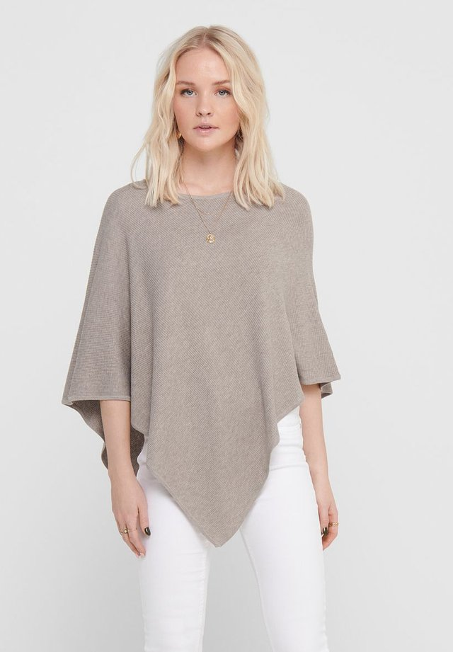 PONCHO - Cape - simply taupe