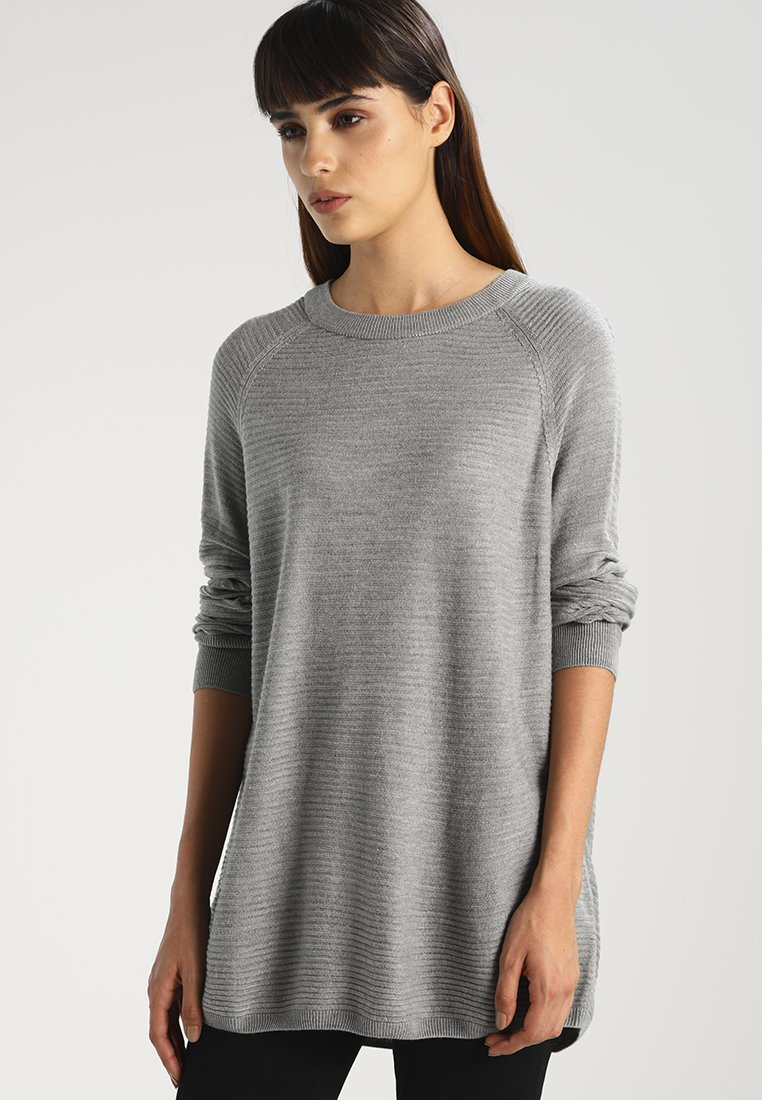 JDY - Strickpullover - light grey melange