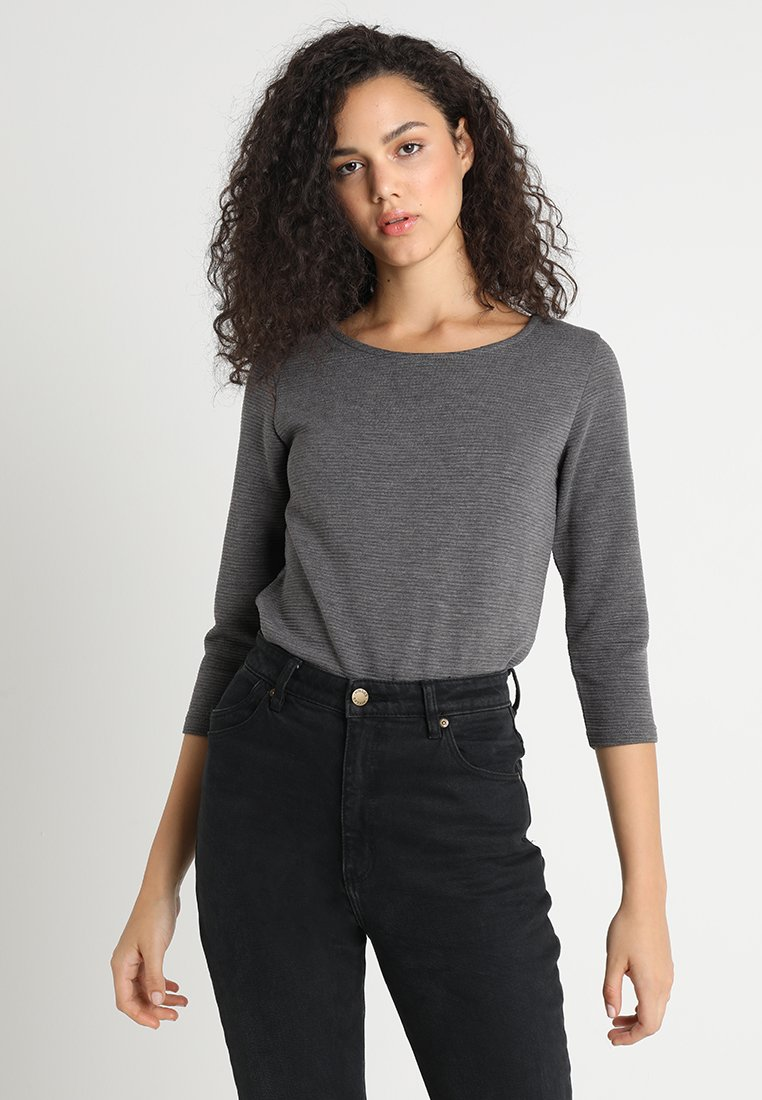 JDY - JDYSAGA - Long sleeved top - dark grey melange