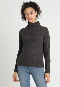 JDY - Pullover - dark grey melange - 0