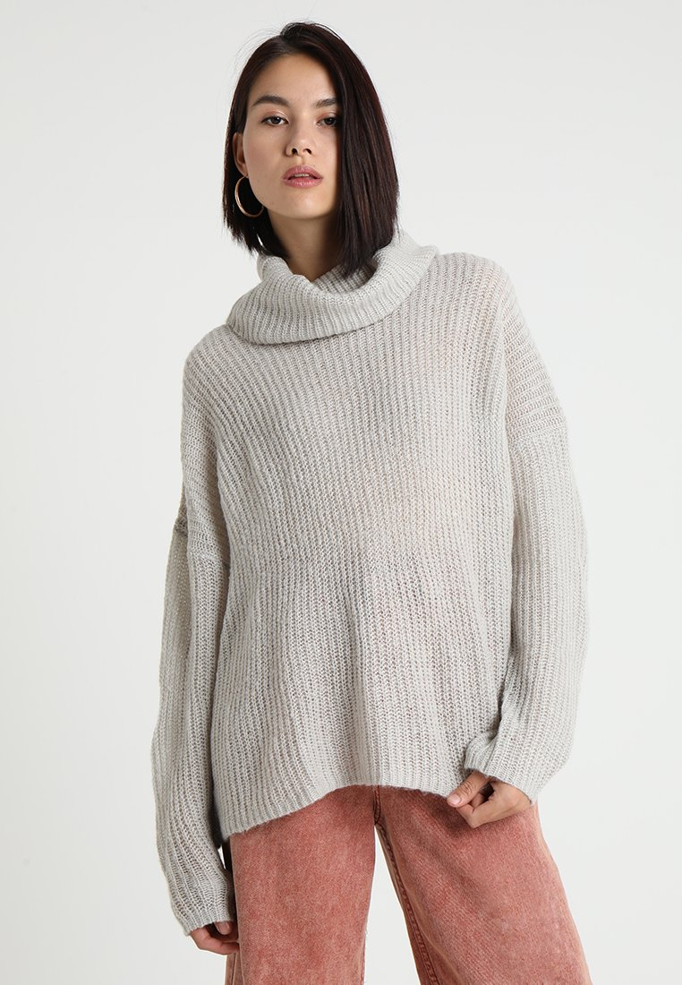 JDY - DAISY HIGH NECK  - Strikpullover /Striktrøjer - light grey melange