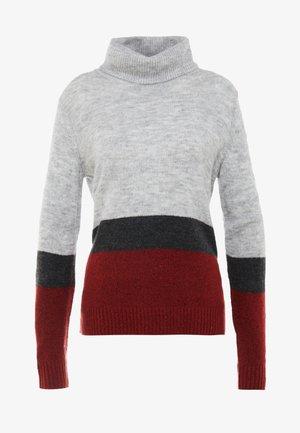 JDYZINDY HIGHNECK  - Pullover - light grey melange