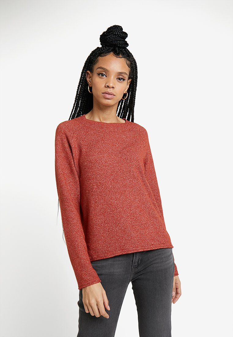 JDY - JDYSALLY - Strickpullover - red ochre melange