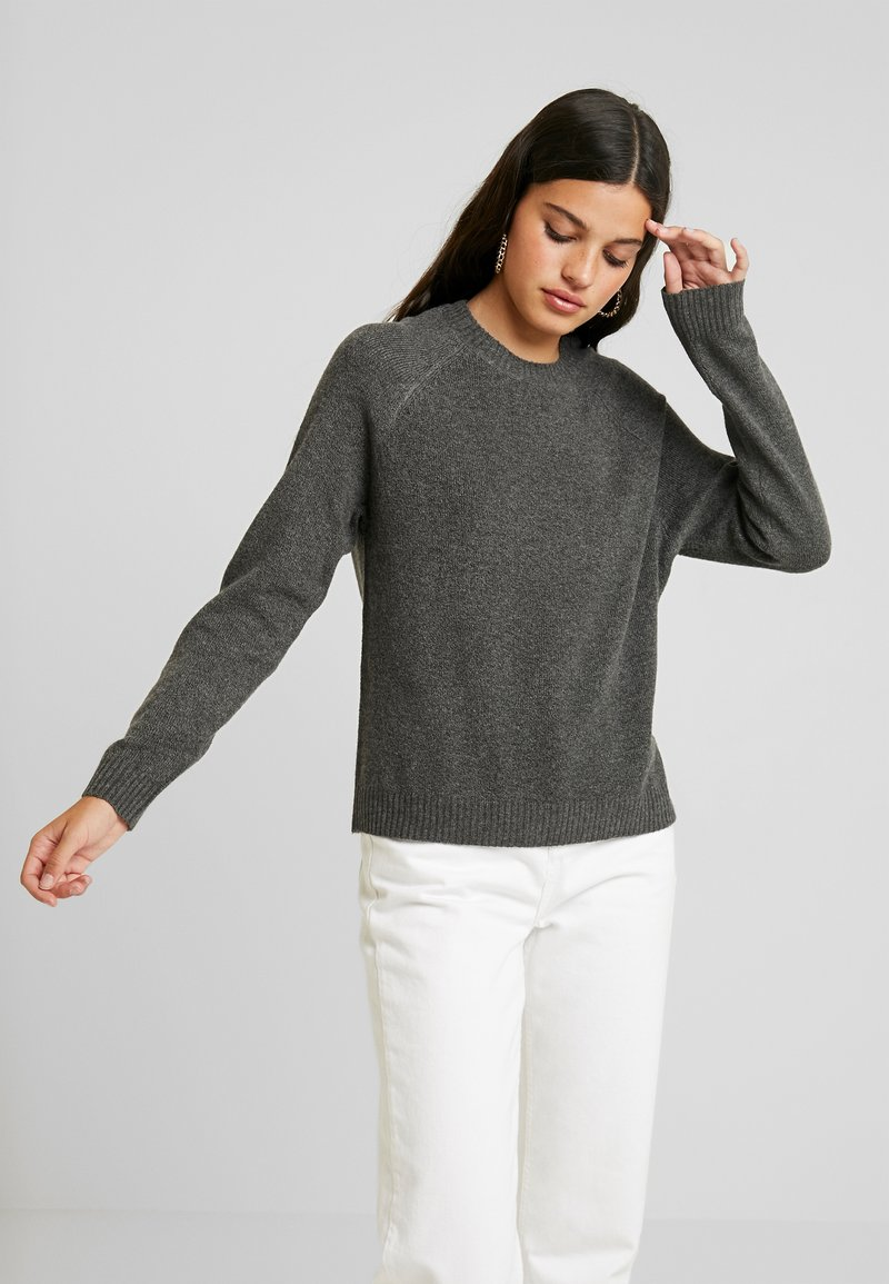JDY - JDYNEW PLATINUM - Sweter - dark grey melange