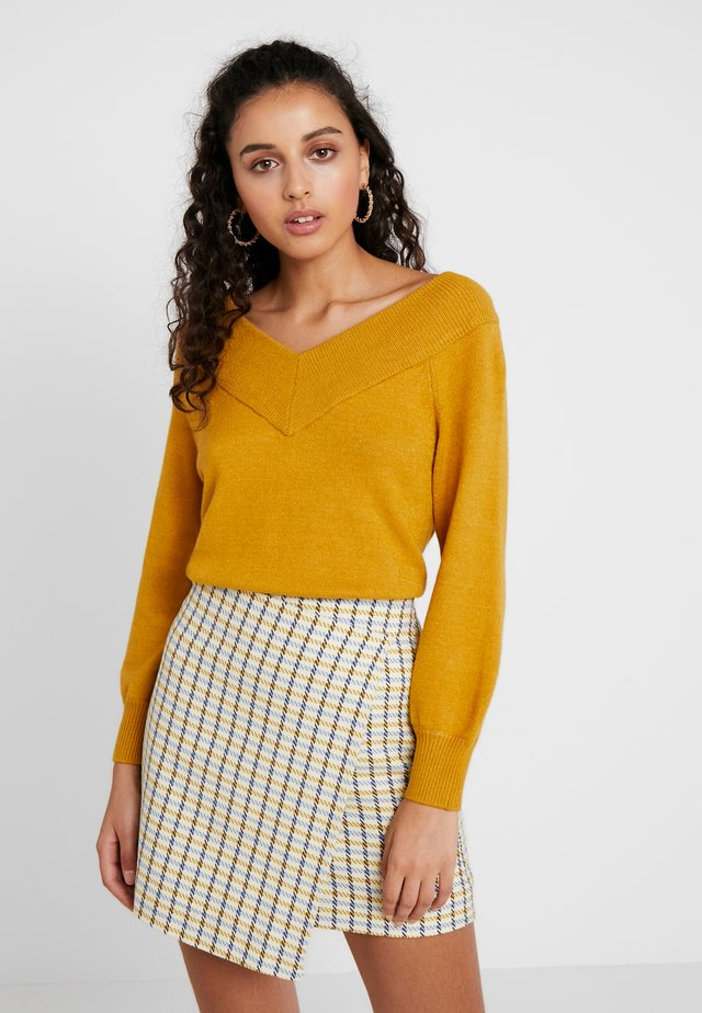 Sweter - harvest gold/melange