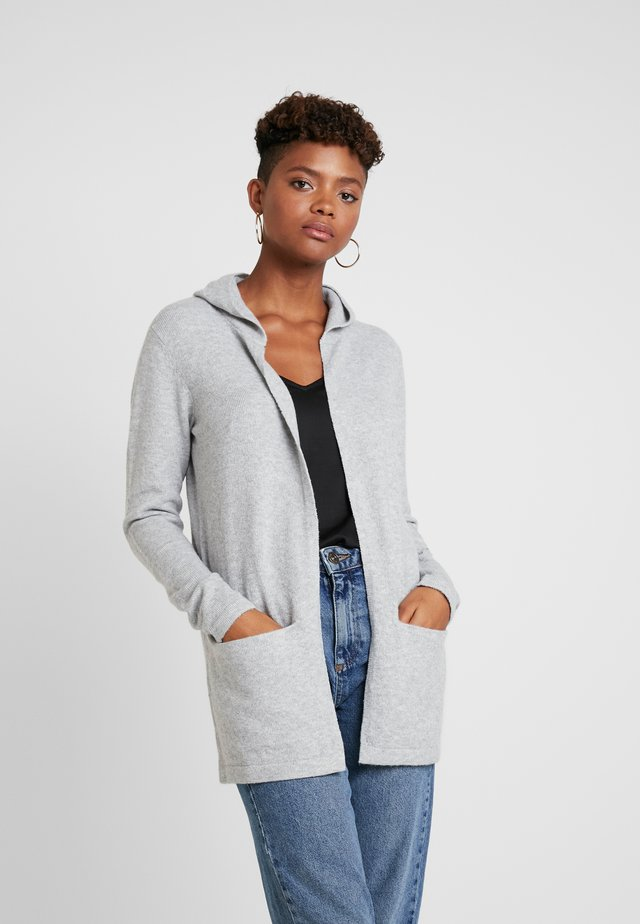 JDYNEW PLATINUM HOOD CARDIGAN  - Strikjakke /Cardigans - light grey melange