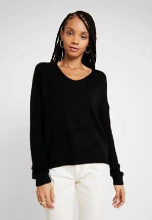 JDYDEBBIE V-NECK - Jumper - black