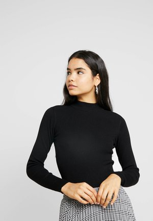JDYMARYAN HIGH NECK - Jersey de punto - black