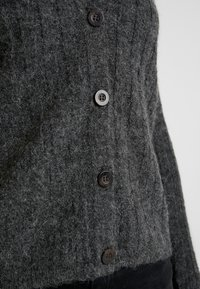 JDY - JDYNINE BUTTON CARDIGAN - Cardigan - dark grey melange - 4
