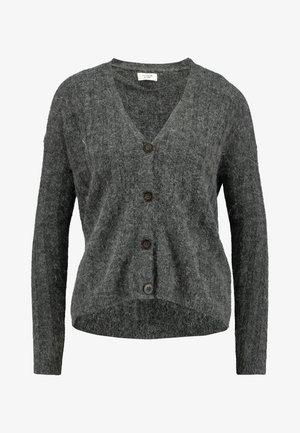 JDYNINE BUTTON CARDIGAN - Gilet - dark grey melange