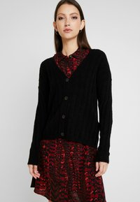 JDY - JDYNINE BUTTON CARDIGAN - Neuletakki - black - 0