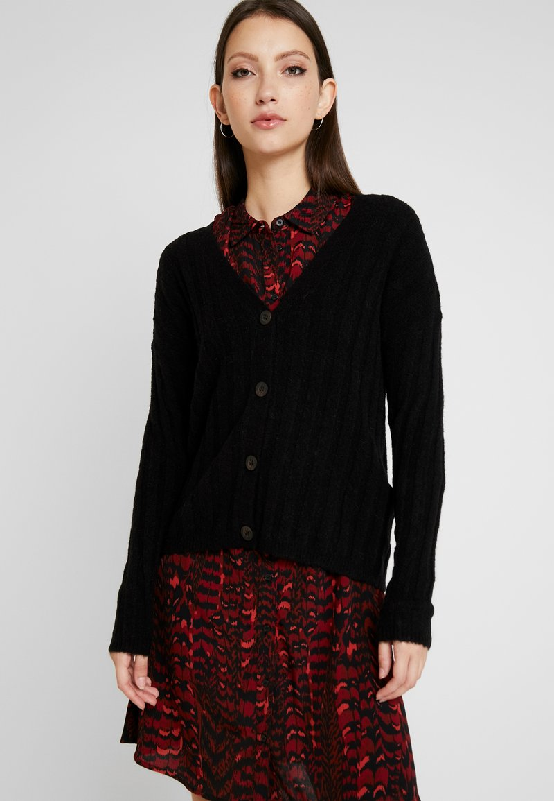 JDY - JDYNINE BUTTON CARDIGAN - Neuletakki - black