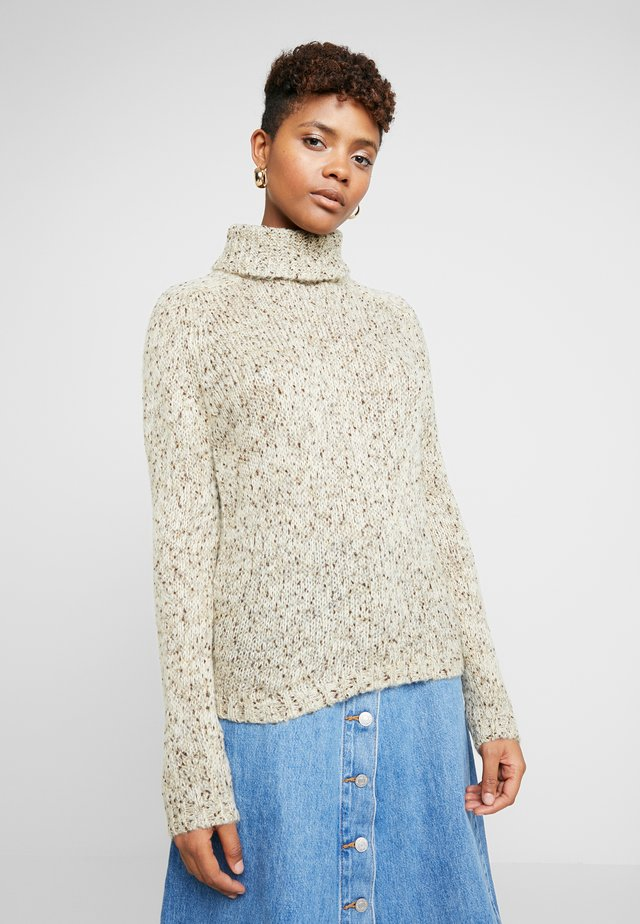JDYCASEY ROLL NECK - Sweter - oatmeal/naps