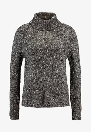 JDYCASEY ROLL NECK - Pullover - dark grey melange