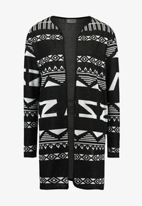 JDY - JDYFLACA CARDIGAN - Cardigan - black/cloud dancer - 4