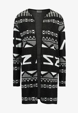 JDYFLACA CARDIGAN - Chaqueta de punto - black/cloud dancer