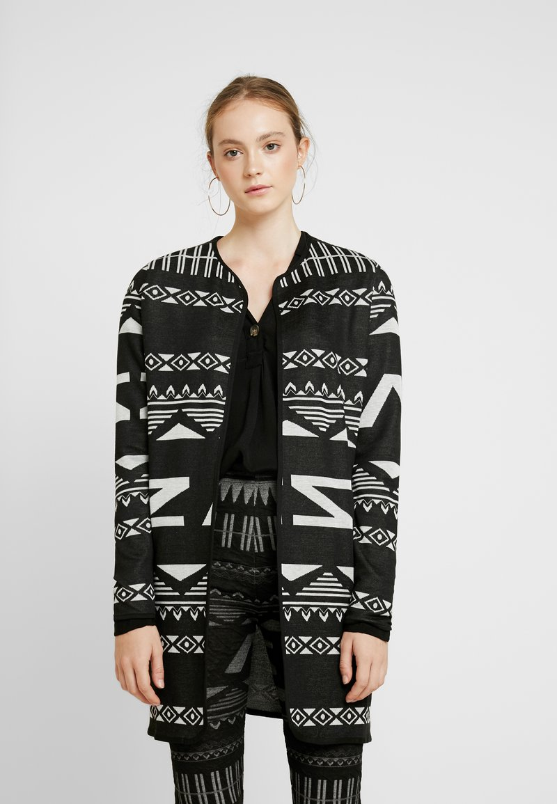 JDY - JDYFLACA CARDIGAN - Cardigan - black/cloud dancer