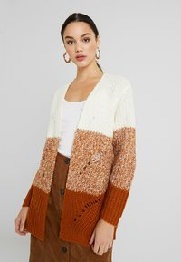 JDY - JDYMAX CARDIGAN - Svetr - cloud dancer/sugar almond gradin - 0