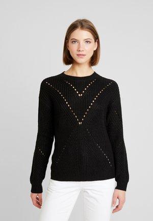 JDYLAVERNE STRUCTURE - Sweter - black