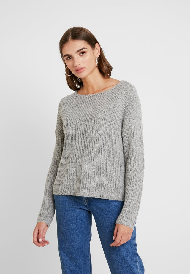 JDYMEGAN TREATS - Strikpullover /Striktrøjer - light grey melange