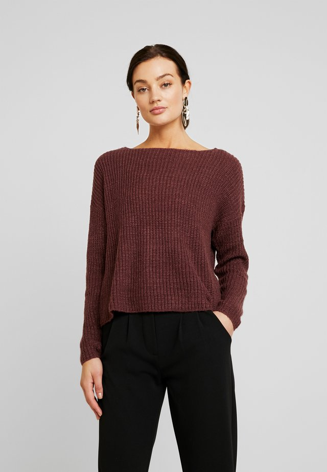 JDYMEGAN TREATS - Strikpullover /Striktrøjer - vineyard wine/melange