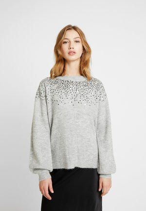 JDYNEW SPARKLE   - Pullover - light grey melange
