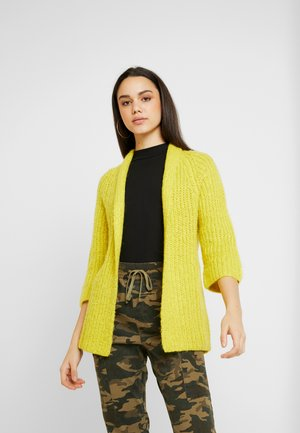 JDYROMES CARDIGAN - Cardigan - medium yellow melange/melange