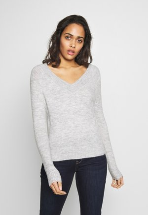 JDYSTACEY CPOPPED - Jumper - light grey